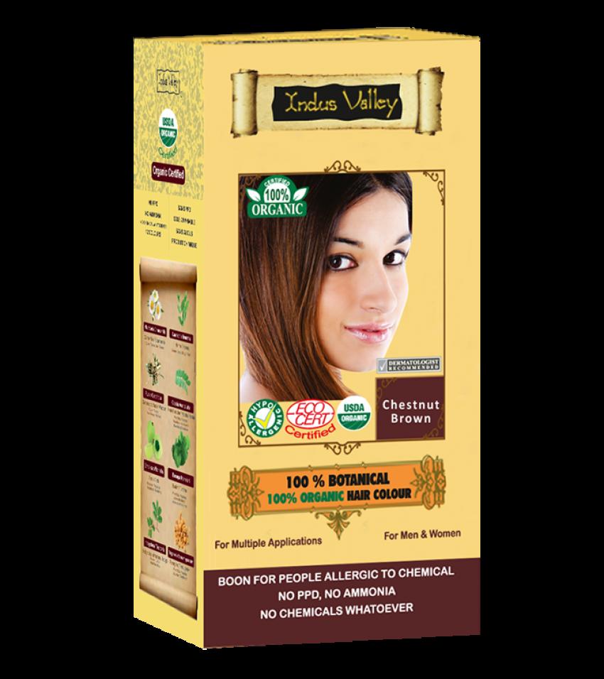 100% Botanical Hair Colour Chestnut Brown