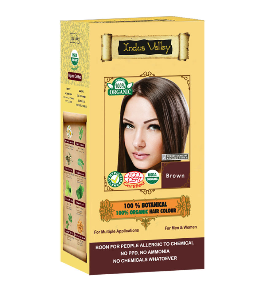 100% Botanical Hair Colour Brown