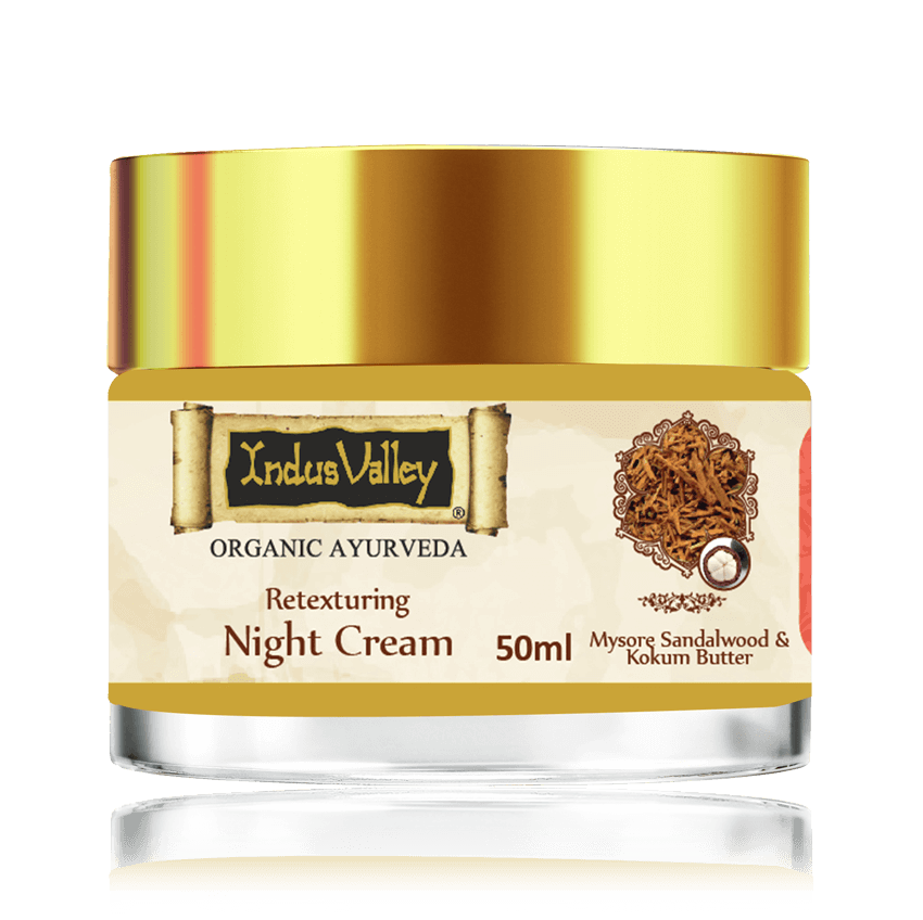 Indus Valley Retexturing Hydrating Night Cream with Kashmiri Saffron