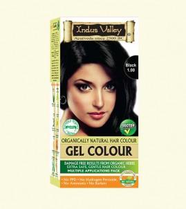 90% Chemical Free Gel Hair Colour Black 1.0
