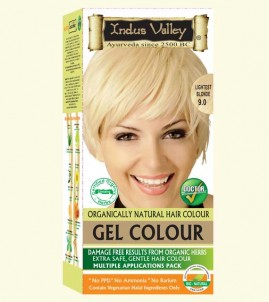 90% Chemical Free Gel Hair Colour Lightest blonde 9.0