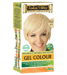 90% Chemical Free Gel Hair Colour Lightest blonde 9.0