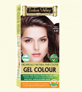 90% Chemical Free Gel Hair Colour Copper Mahogany 5.4