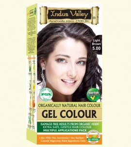 90% Chemical Free Gel Hair Colour Light Brown 5.0