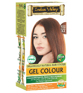 90% Chemical Free Gel Hair Colour Medium Copper Blonde 8.4