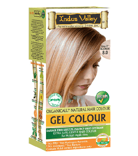 90% Chemical Free Gel Hair Colour Light Blonde 8.0