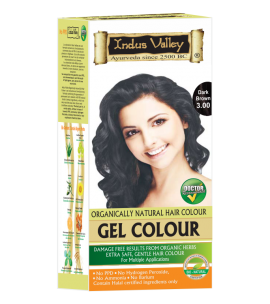 90% Chemical Free Gel Hair Colour Dark Brown 3.0