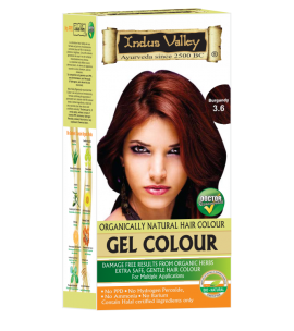 90% Chemical Free Gel Hair Colour Burgundy 3.6