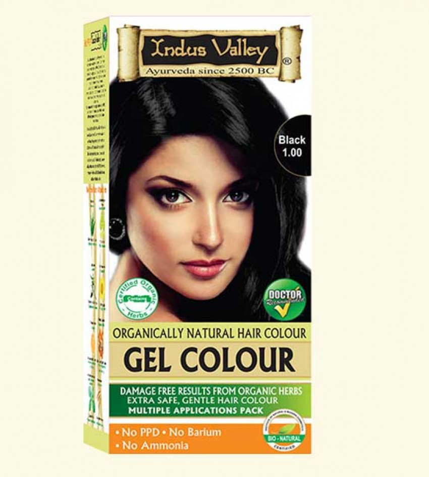 90% Chemical Free Gel Hair Colour Black 1.0