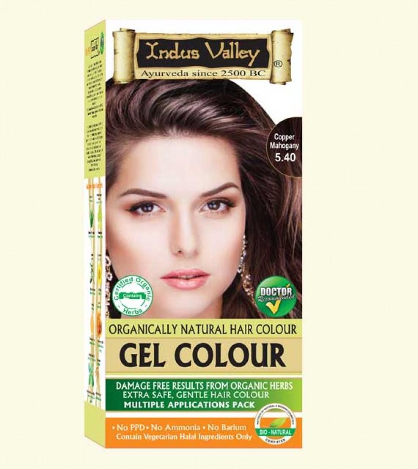 90% Chemical Free Gel Hair Colour Copper Mahogany 5.4