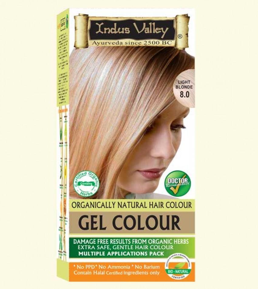 90% Chemical Free Gel Hair Colour Light Blonde 8.0