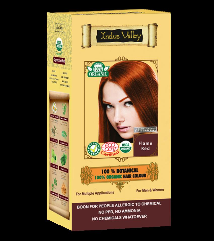 100% Botanical Hair Colour Flame Red