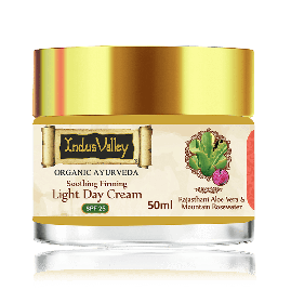 Organically Natural Rajasthani Aloe Mountain Rose Soothing & Firming Light Day Cream