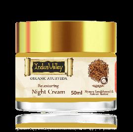 Indus Valley Retexturing Hydrating Night Cream with Kashmiri Saffron
