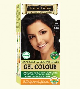 90% Chemical Free Gel Hair Colour Dark Brown 3.0