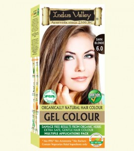 90% Chemical Free Gel Hair Colour Dark Blonde 6.0