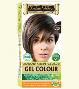 90% Chemical Free Gel Hair Colour Medium Brown 4.0