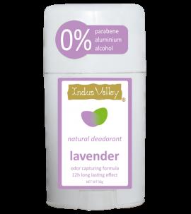 Indus Valley Lavender Natural Deodorant Stick (best before 10/21)